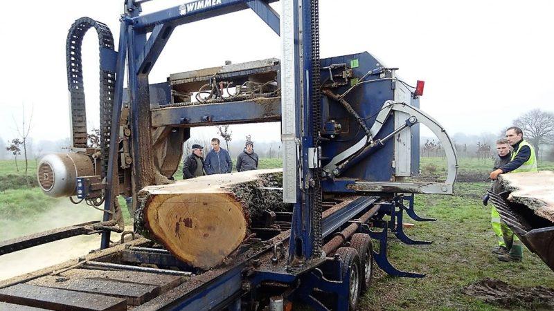 Breteil bois bocage scierie mobile