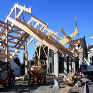Construction du marché de Riec-sur-Bélon