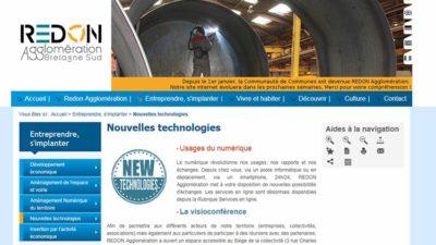 site internet de Redon Agglomération
