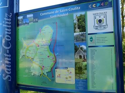 panneau-rando Saint Coulitz